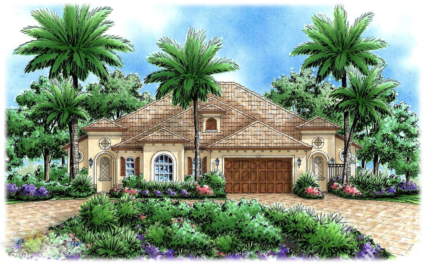 Multi Family House Plan Mediterranean