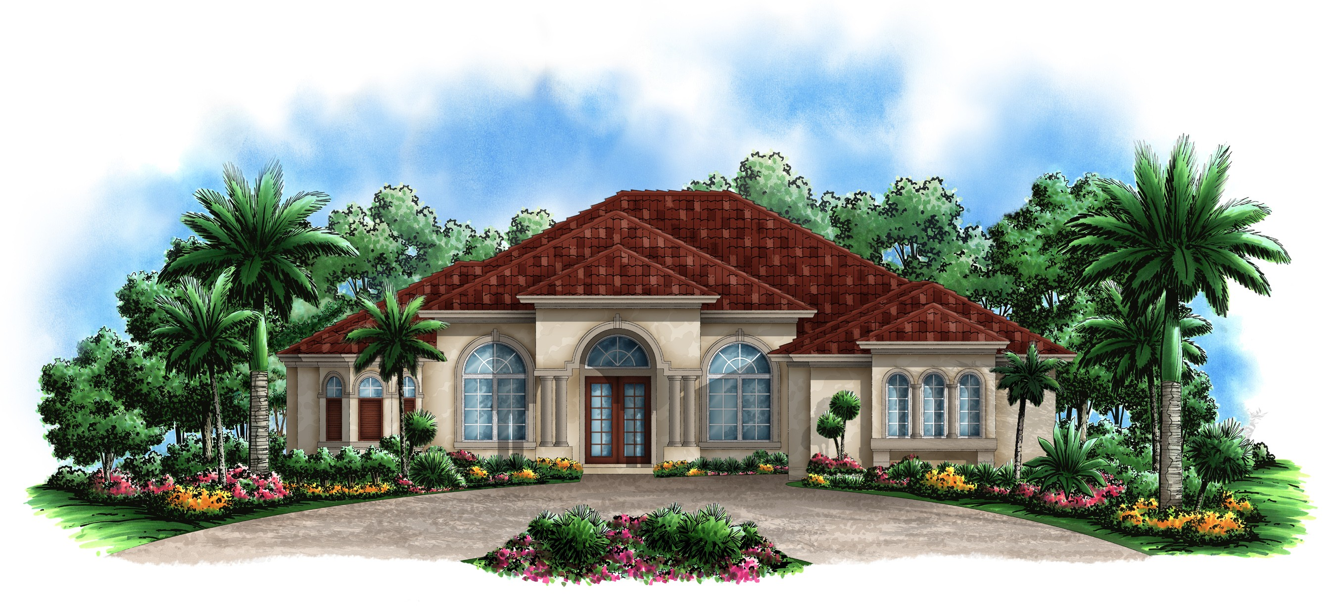 Florida Mediterranean Style House Plans
