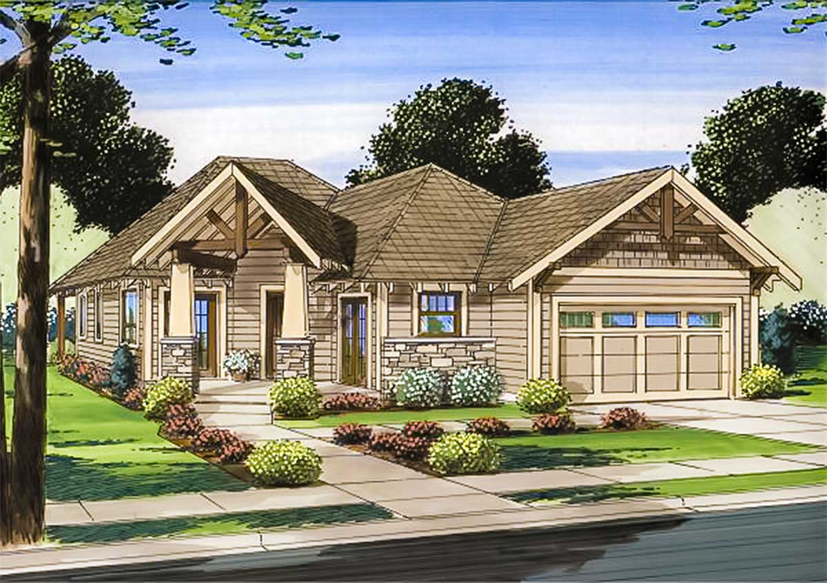 Angled House Plans with Porches