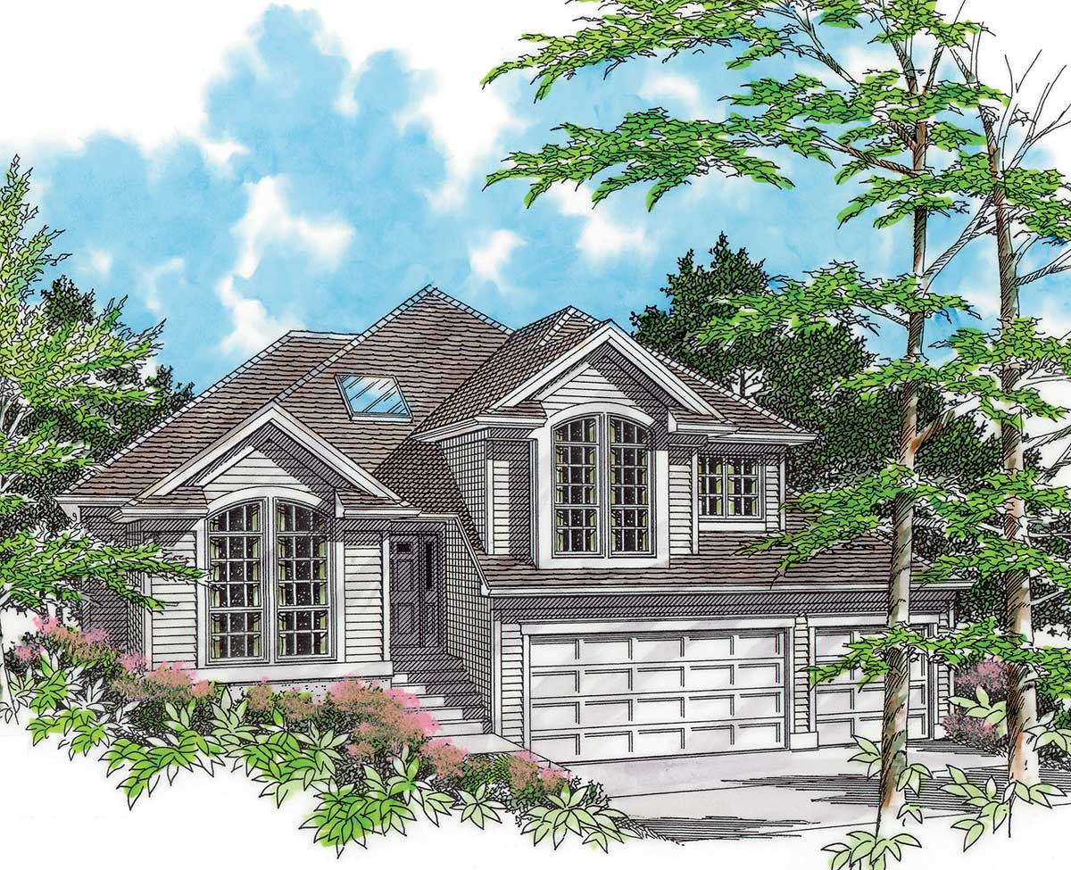 Side Sloping Lot House Plans