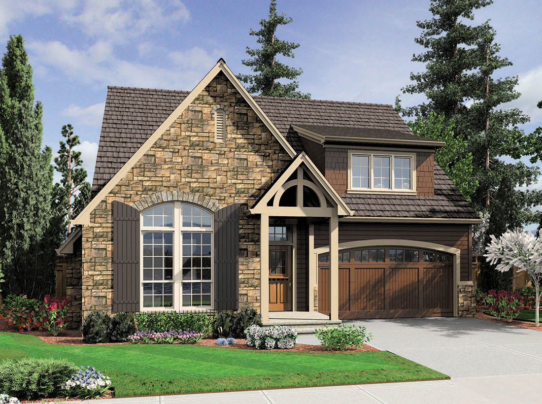 Cottage Design With Large Living Space - 69008am