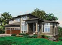 Contemporary Prairie with Daylight Basement - 69105AM ...