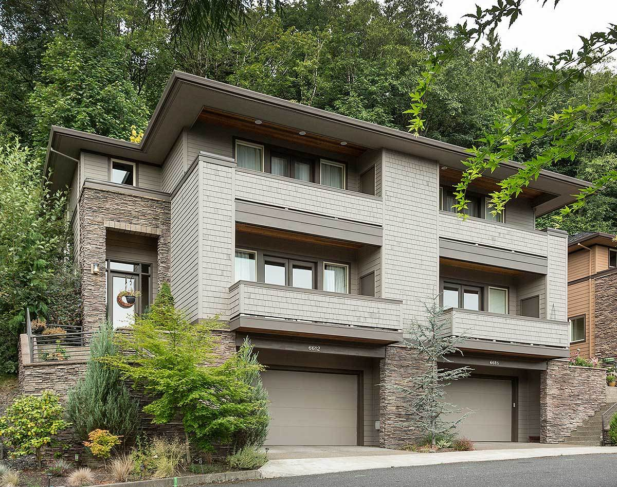Hillside MultiFamily Home Plan  69111AM  Architectural Designs  House Plans