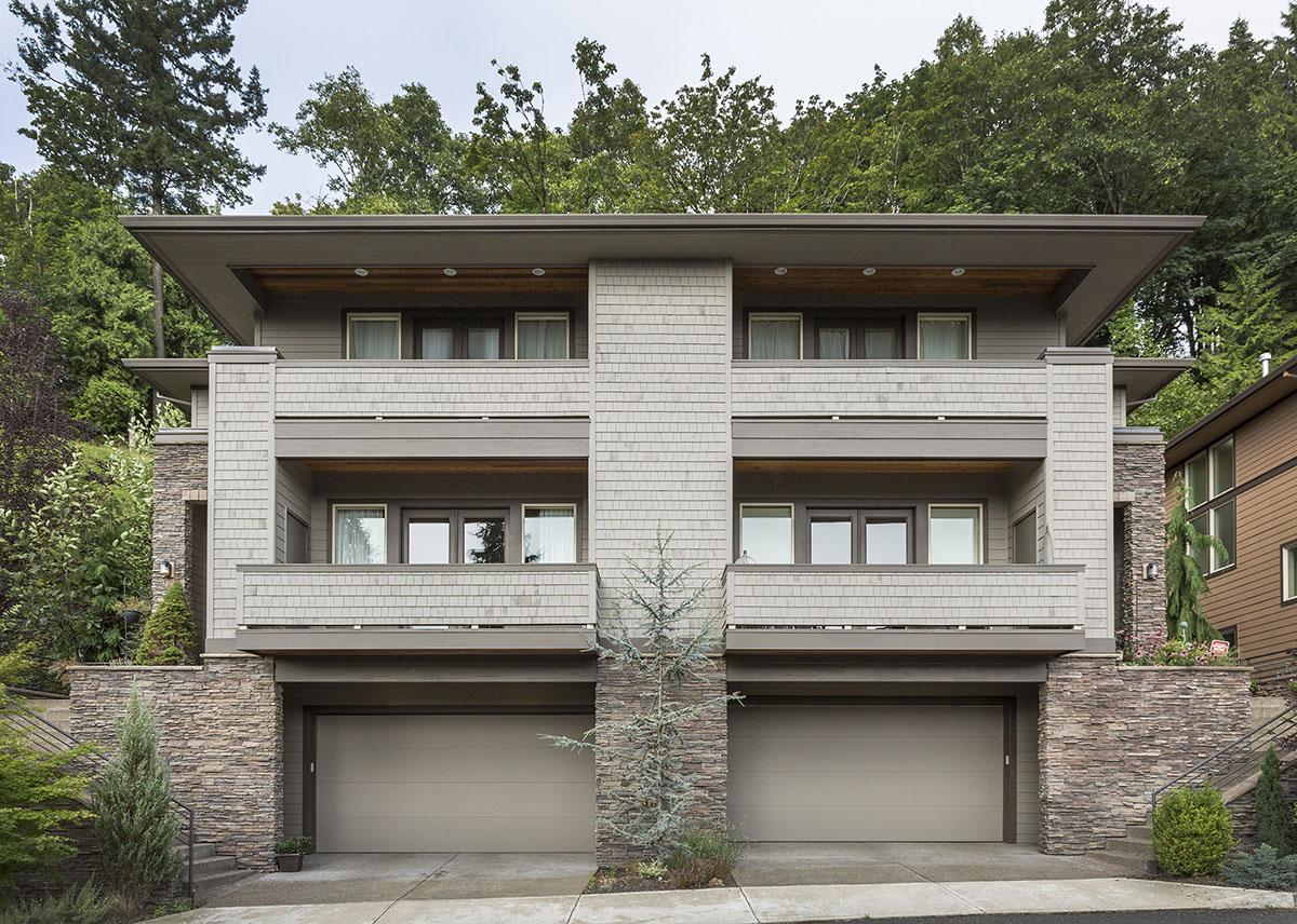 Hillside House Plans with Garage Under