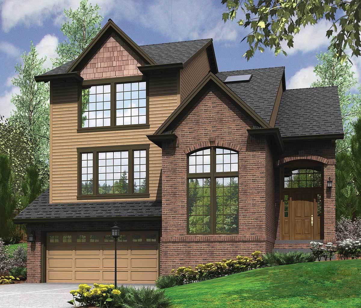 Garage Under Split Level Plan  69133AM  Architectural