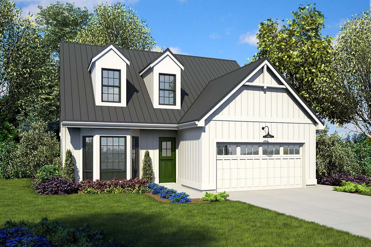 Farmhouse House Plans with Hearth Rooms