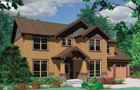 Craftsman Plan with Mission Style Window - 69314AM ...
