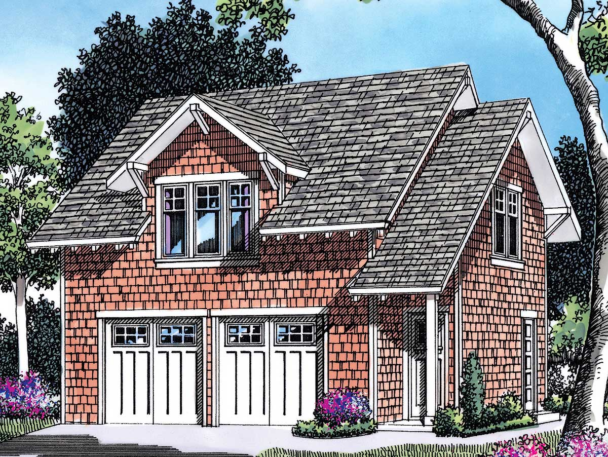 Garage Plan With Apartment Above - 69393am Architectural
