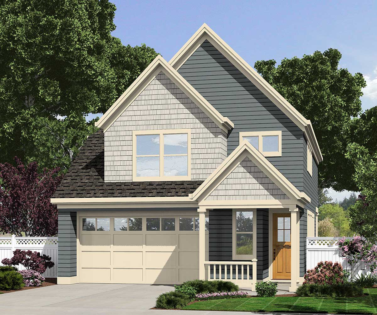 Narrow Lot Cottage - 69480am Architectural Design