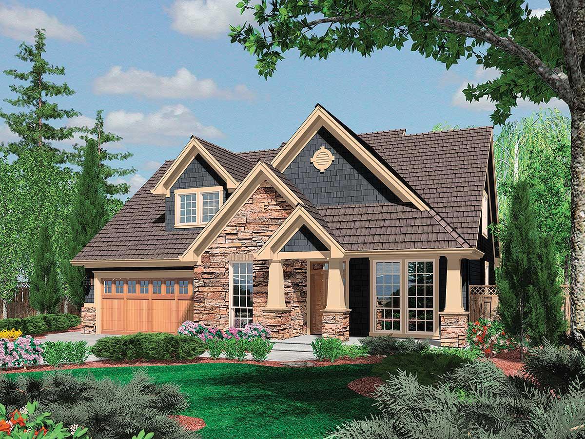 Charming Craftsman Home Plan - 6950AM