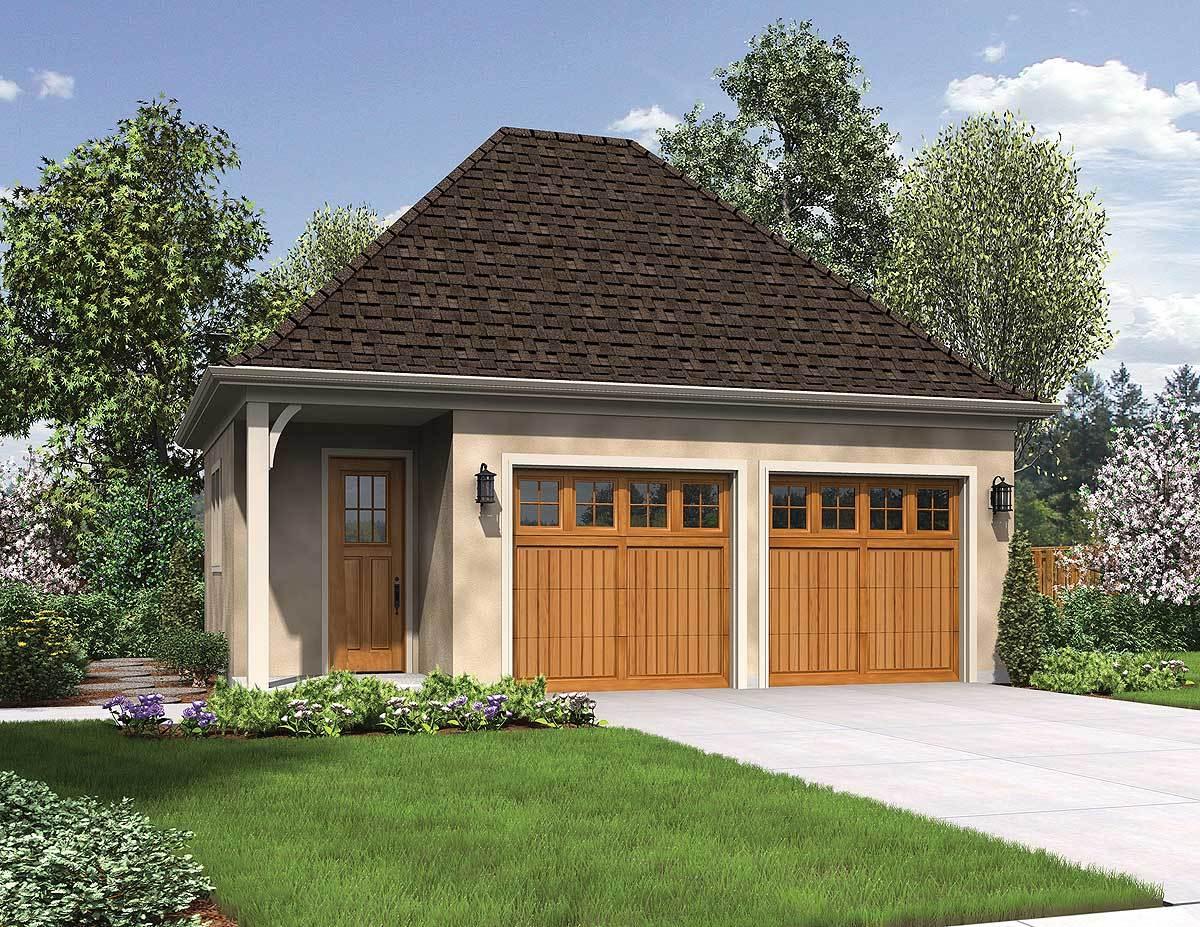 Craftsman Style Detached 3 Car Garage Plans