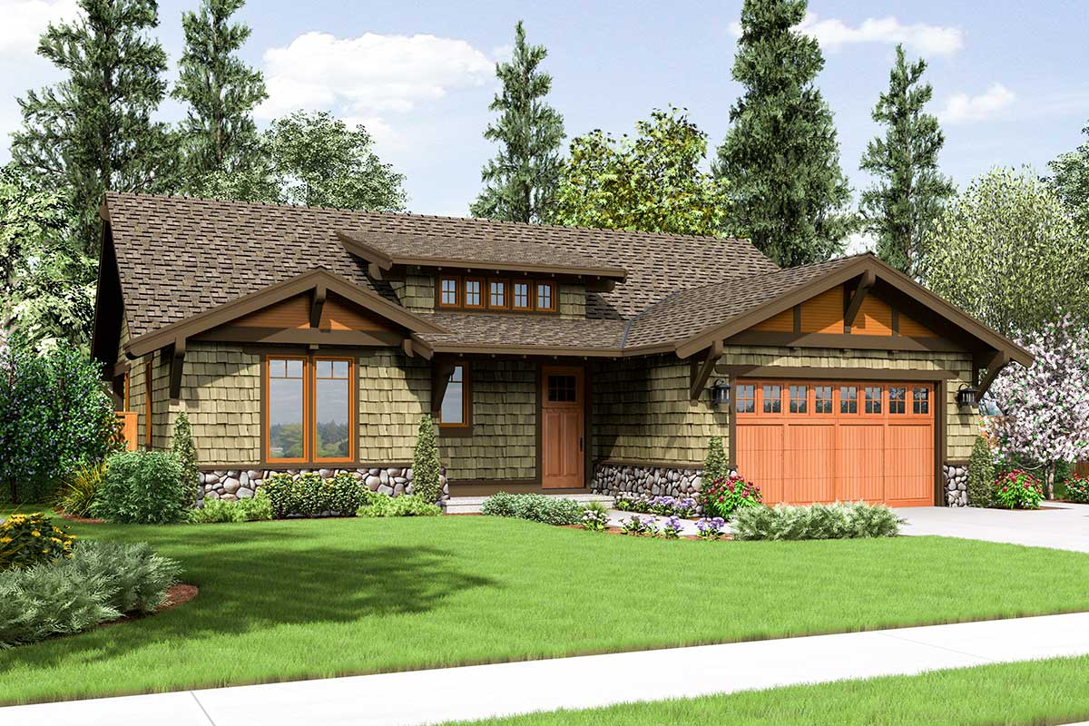 Rustic Craftsman Home Plan - 69521am Architectural