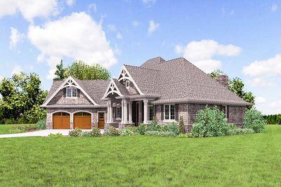 3 Bedroom Craftsman Home Plan 69533am Architectural