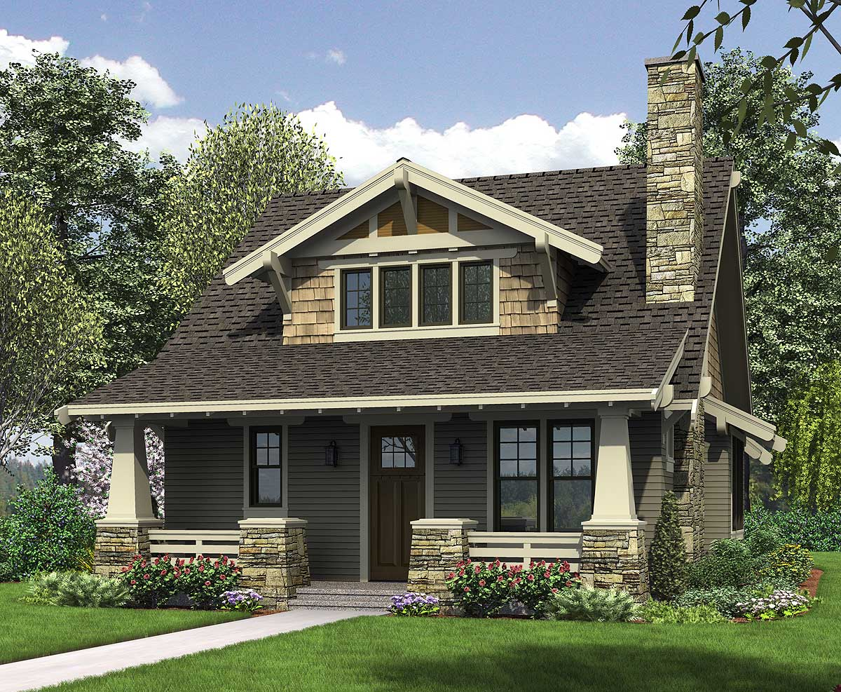 Craftsman Open Floor Home Plans with Porches