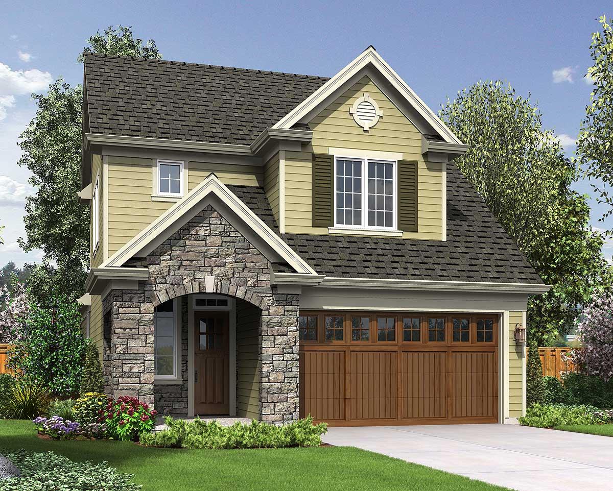 2 Story Narrow Lot House Plans