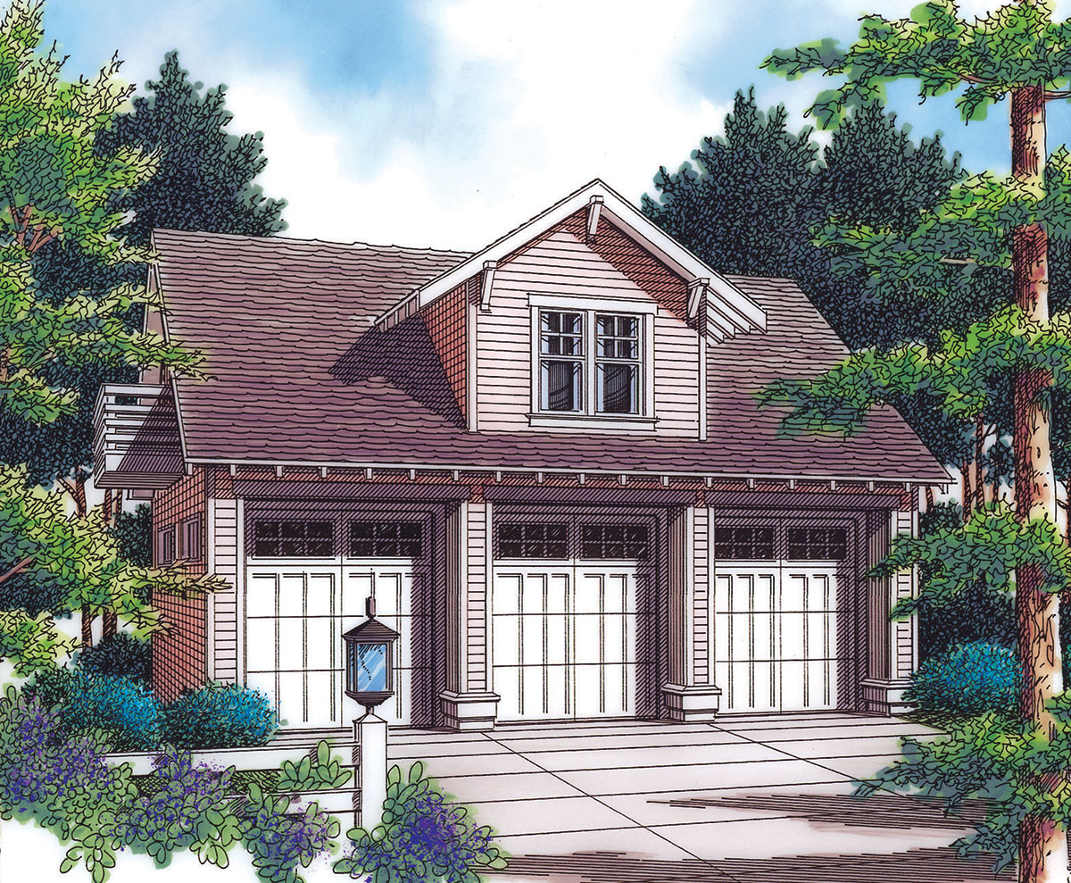 Detached Garage With Guest House Potential  69570AM  Architectural Designs  House Plans