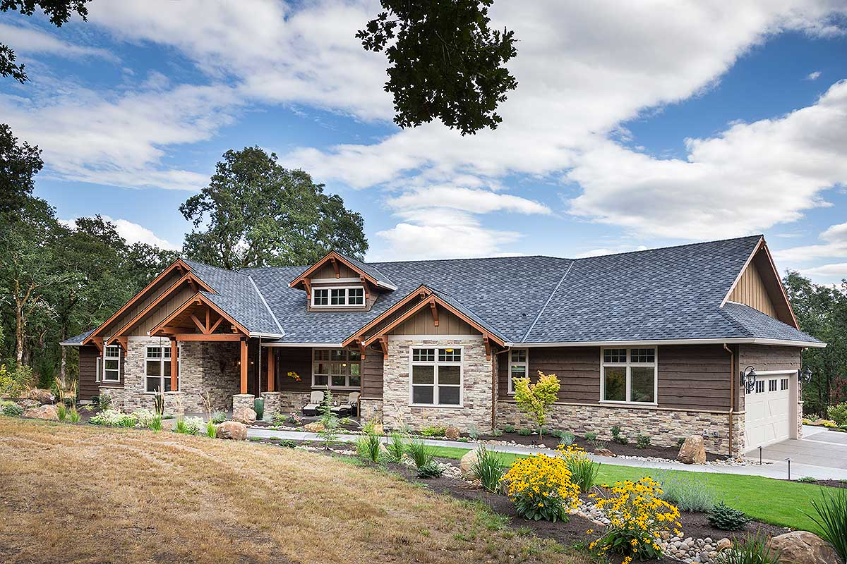 Beautiful Northwest Ranch Home Plan  69582AM  Architectural Designs  House Plans