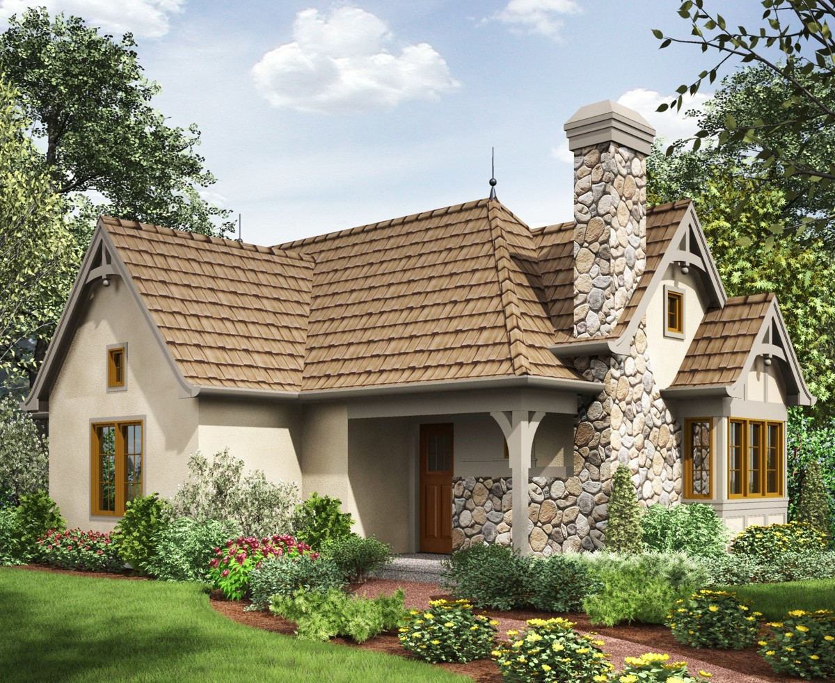 2 Bed Tiny Cottage House Plan - 69593am 1st Floor Master
