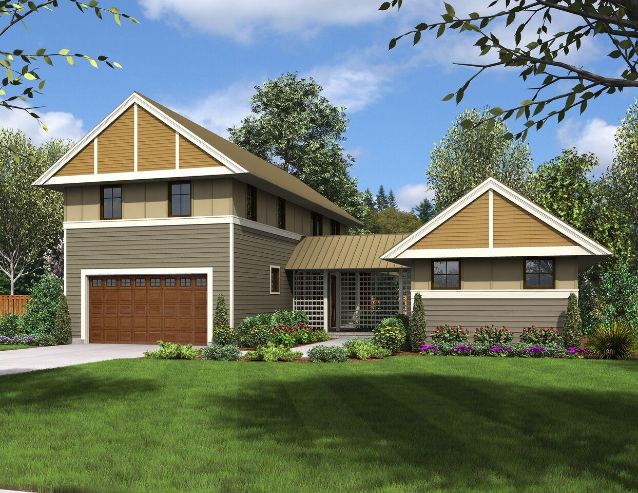 Unique Dog Trot House Plan - 69609am Architectural