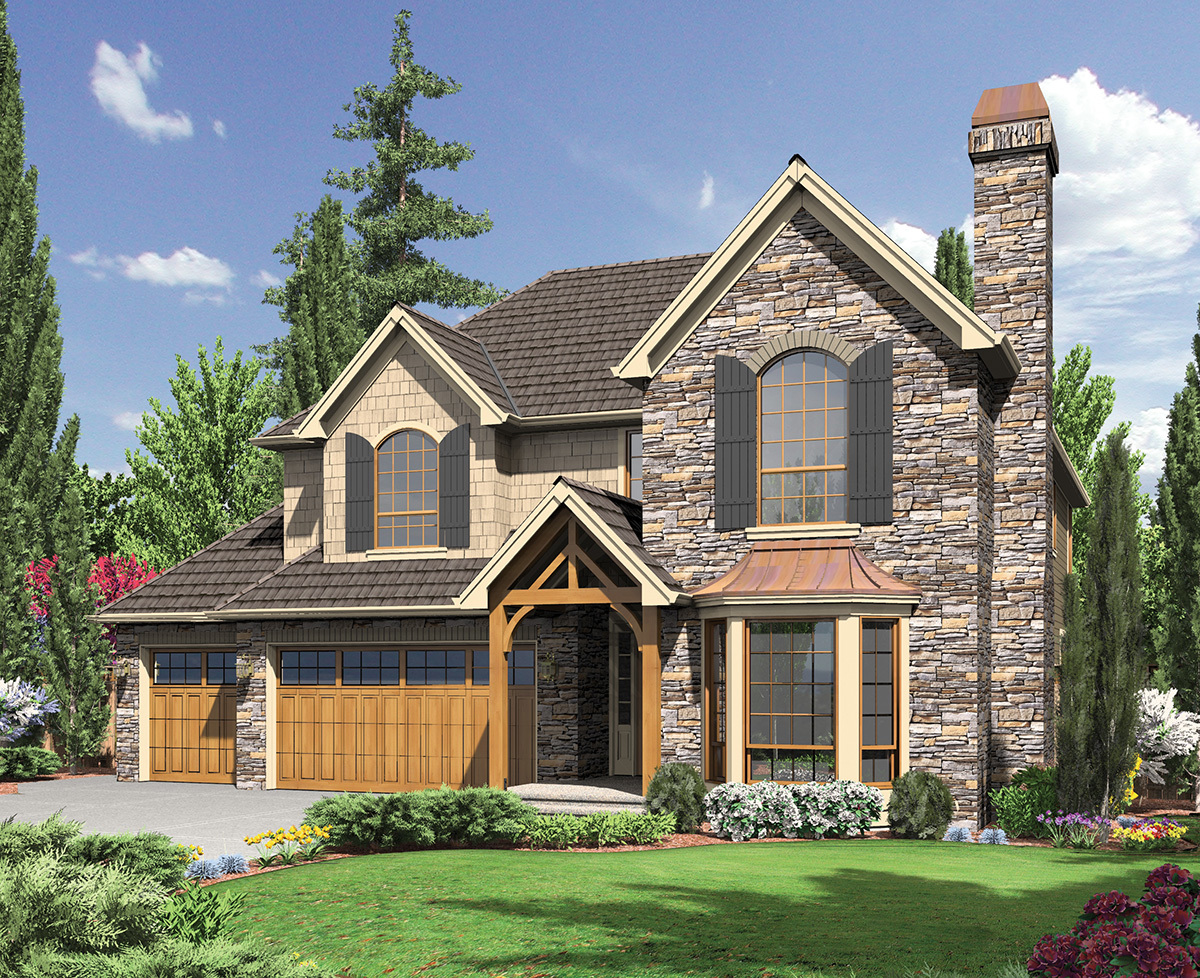 English Cottage Style Home Plan - 6970am Architectural