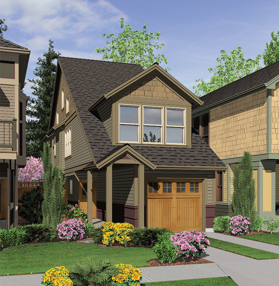 Perfect Home Plan For A Narrow Lot 6989am