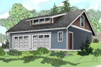 Craftsman Carriage House with Shed Dormer - 72794DA ...