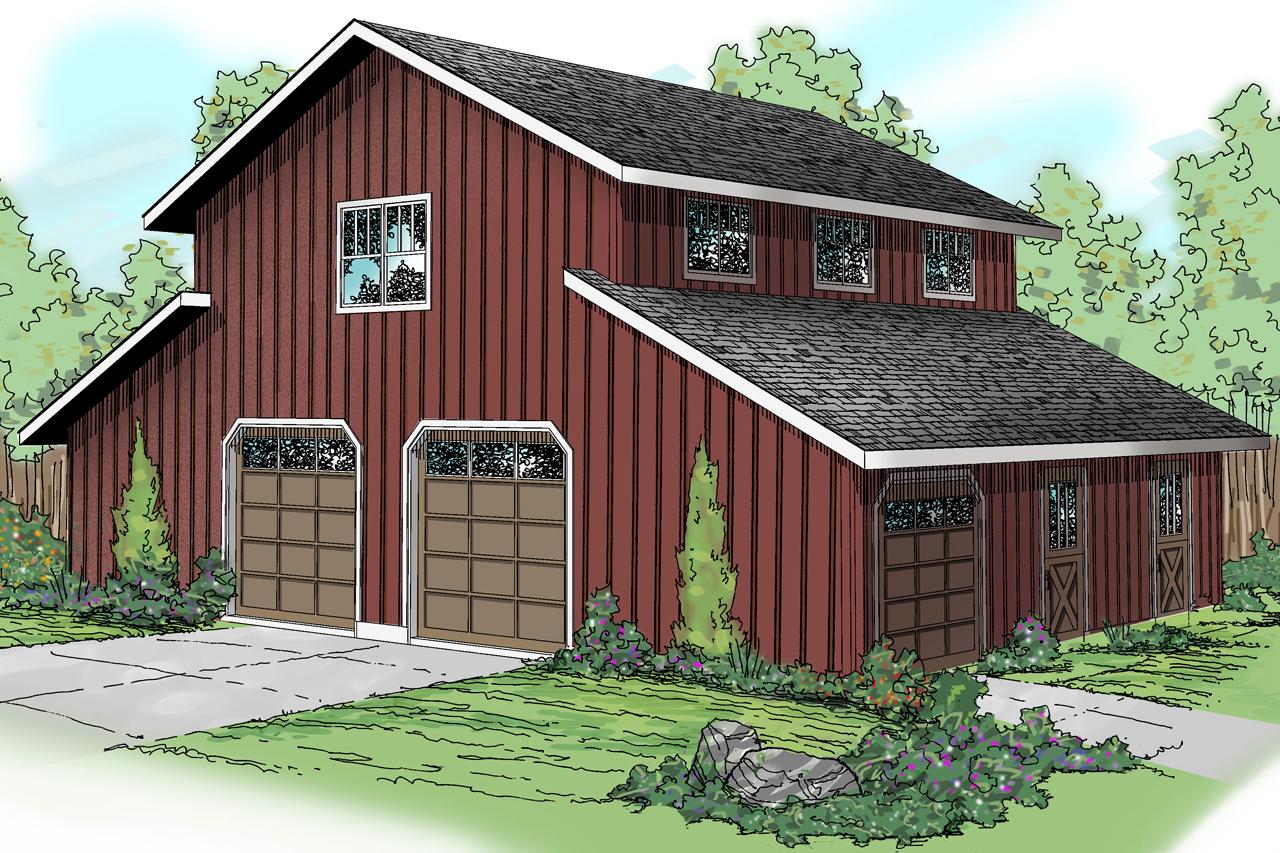 Barn Style Garage With Rec Room - 72795da Architectural
