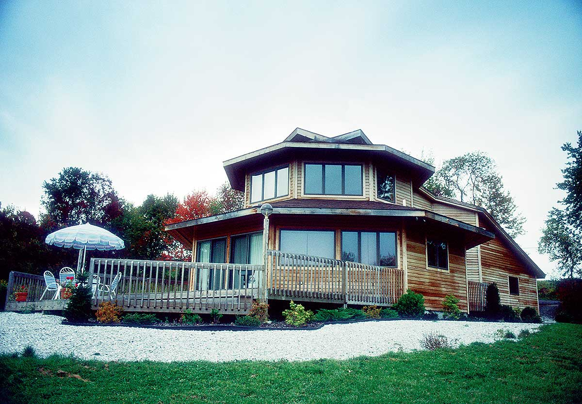 Distinctive Hexagonal Home Plan - 7372hs Architectural
