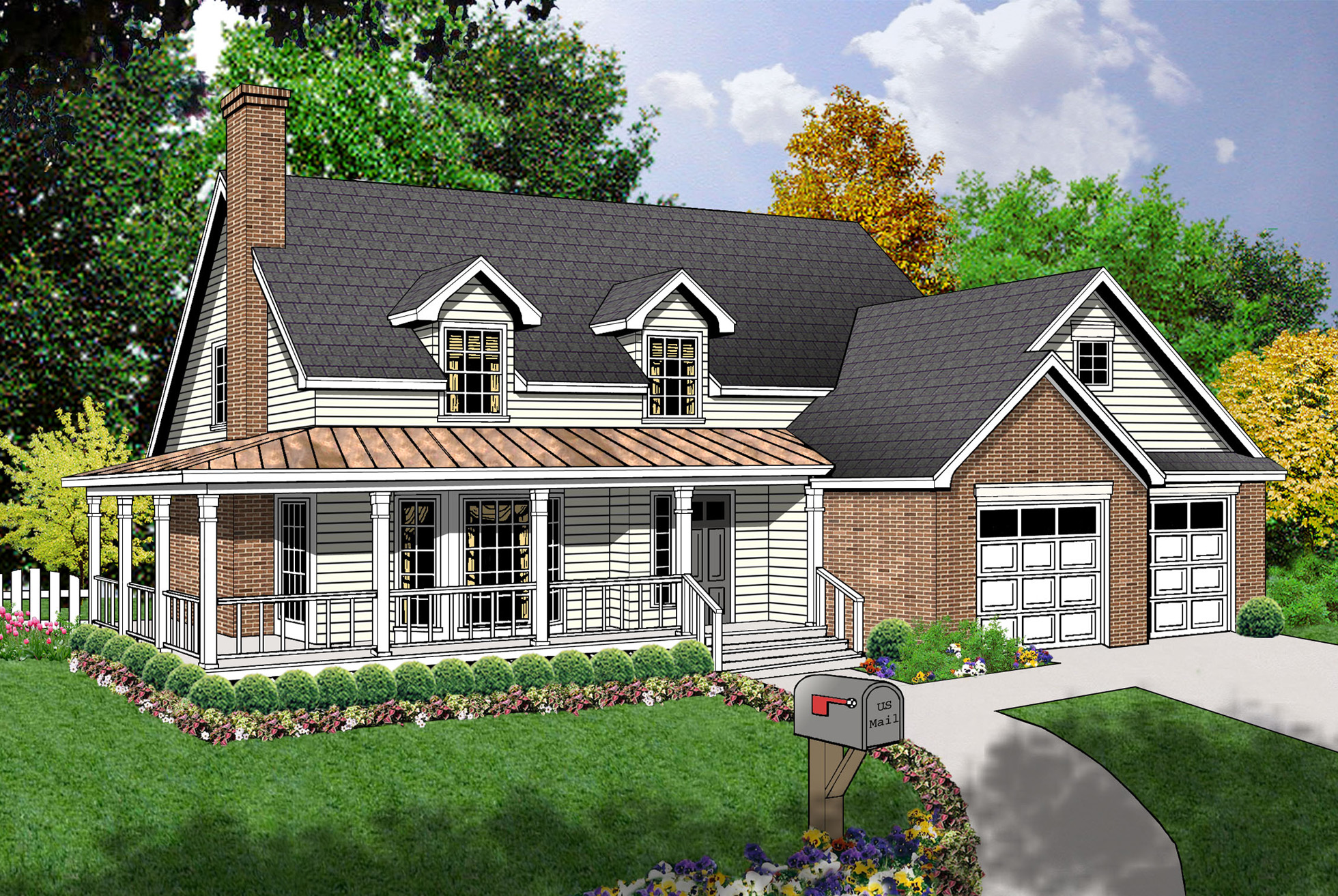 Charming Country Design - 7405rd 1st Floor Master Suite