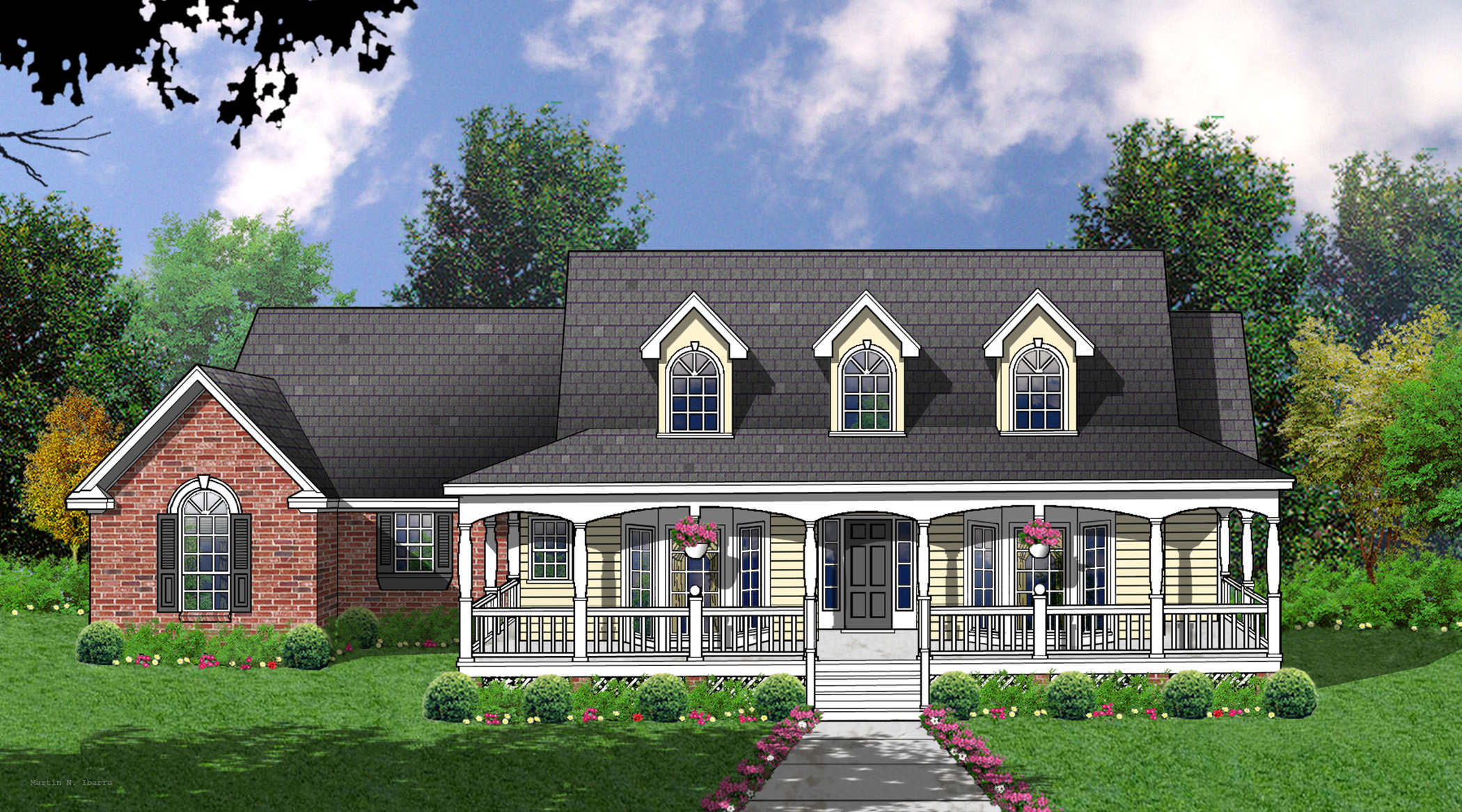 Charming Country Home Plan - 7469rd 1st Floor Master