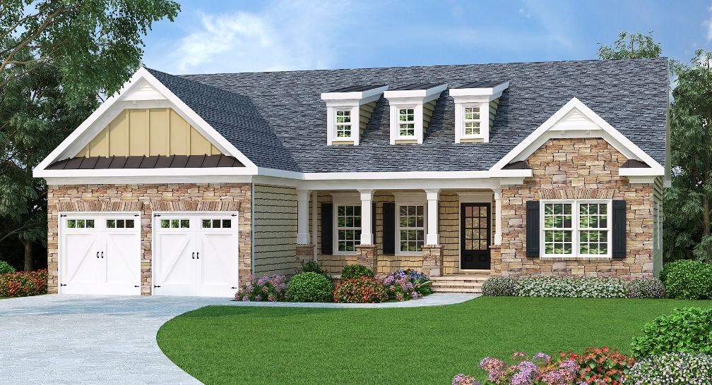 Craftsman Ranch With Alternate Exterior 75513gb