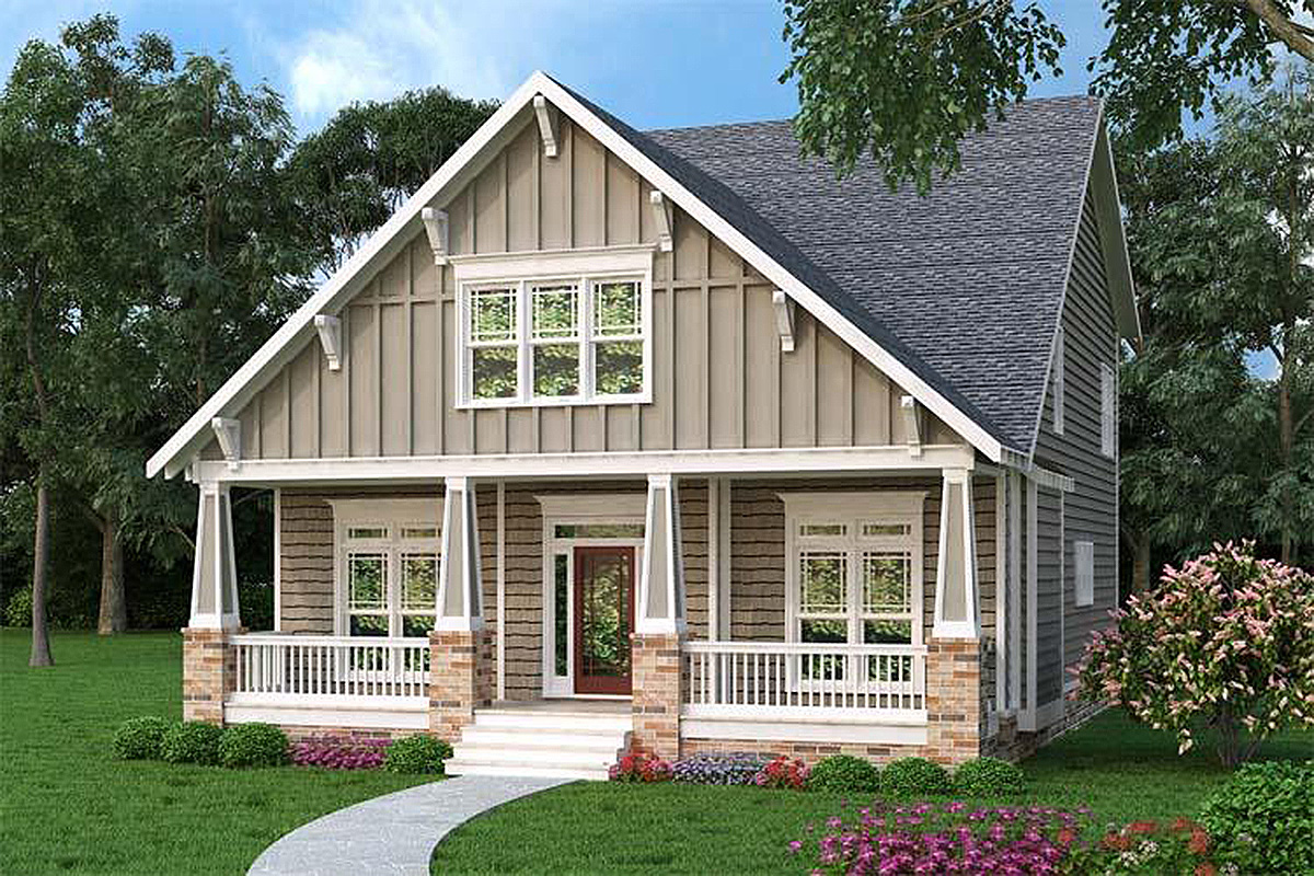 2 Bedroom Craftsman Style House Plans