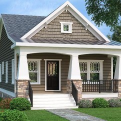 Craftsman Rocking Chair Styles Rentals Miami 2 Bed Bungalow House Plan With Vaulted Family Room - 75565gb | Architectural Designs Plans