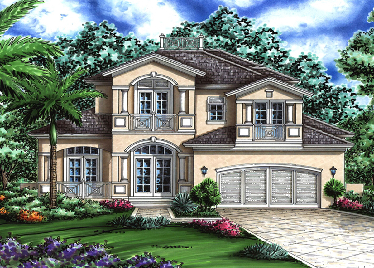 Beautiful Florida House Plan - 76006gw Architectural