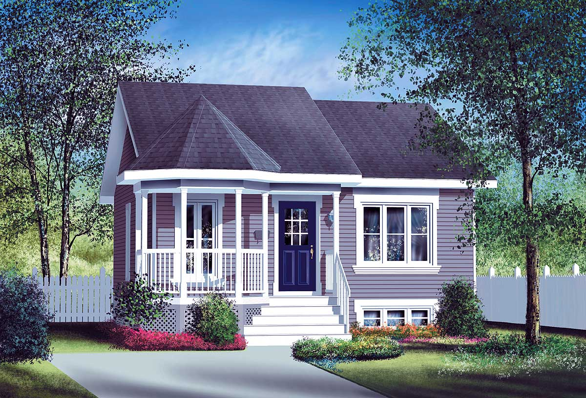 Small Country Home Plan - 80004pm 1st Floor Master Suite