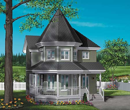 Victorian Charmer 80249pm Architectural Designs