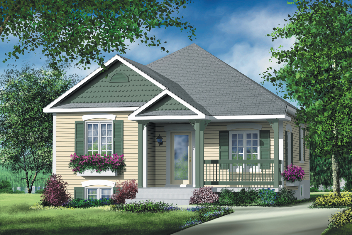 Simple Two Bedroom Cottage - 80363pm Architectural