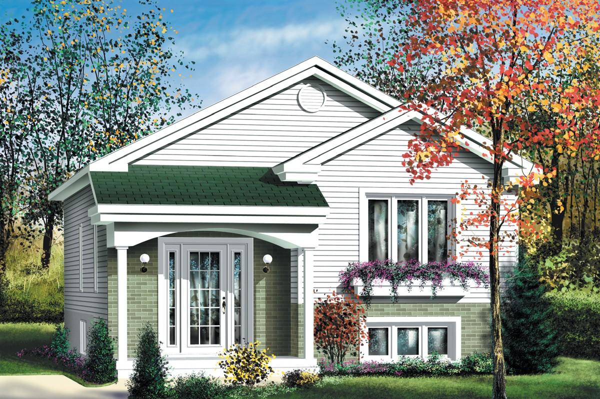 Economical Split Level Home Plan 80376pm 1st Floor