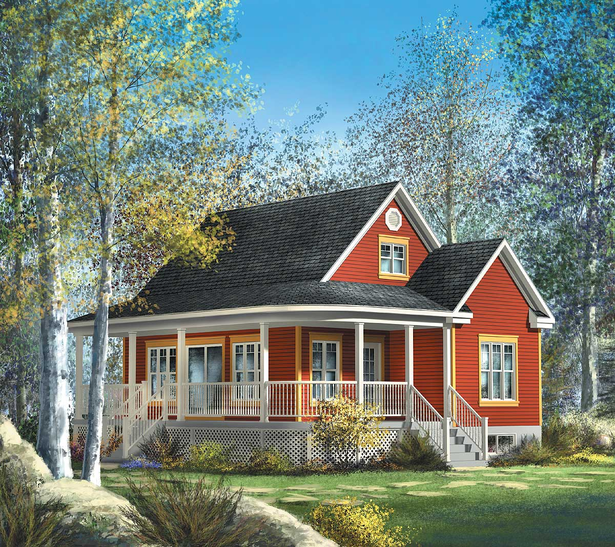 Cute Country Cottage 80559pm 2nd Floor Master Suite