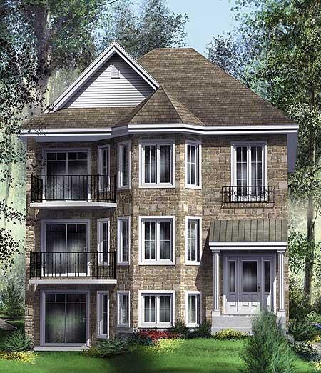 Handsome TriPlex  80586PM  Architectural Designs  House Plans