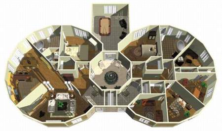 Multigenerational Home Plan 80599PM 1st Floor Master