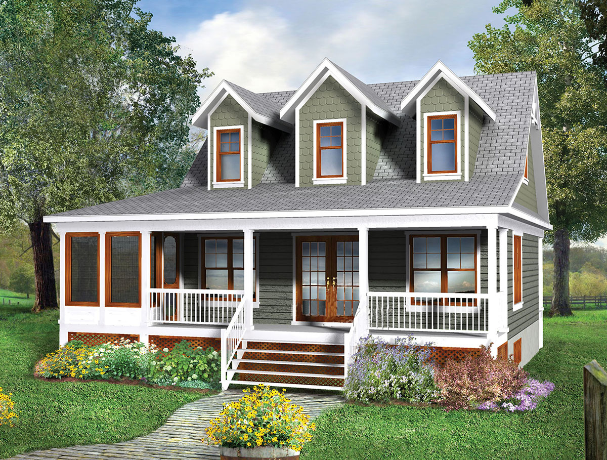 2 Story Cottage House Plans