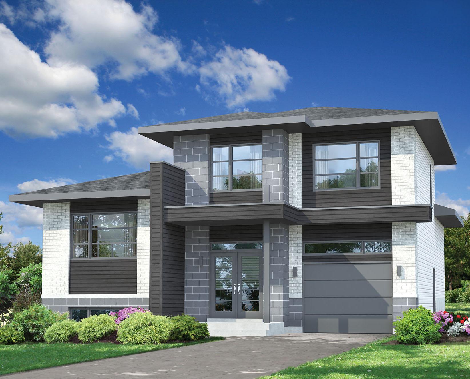 Modern Split-Level Contemporary House Plans