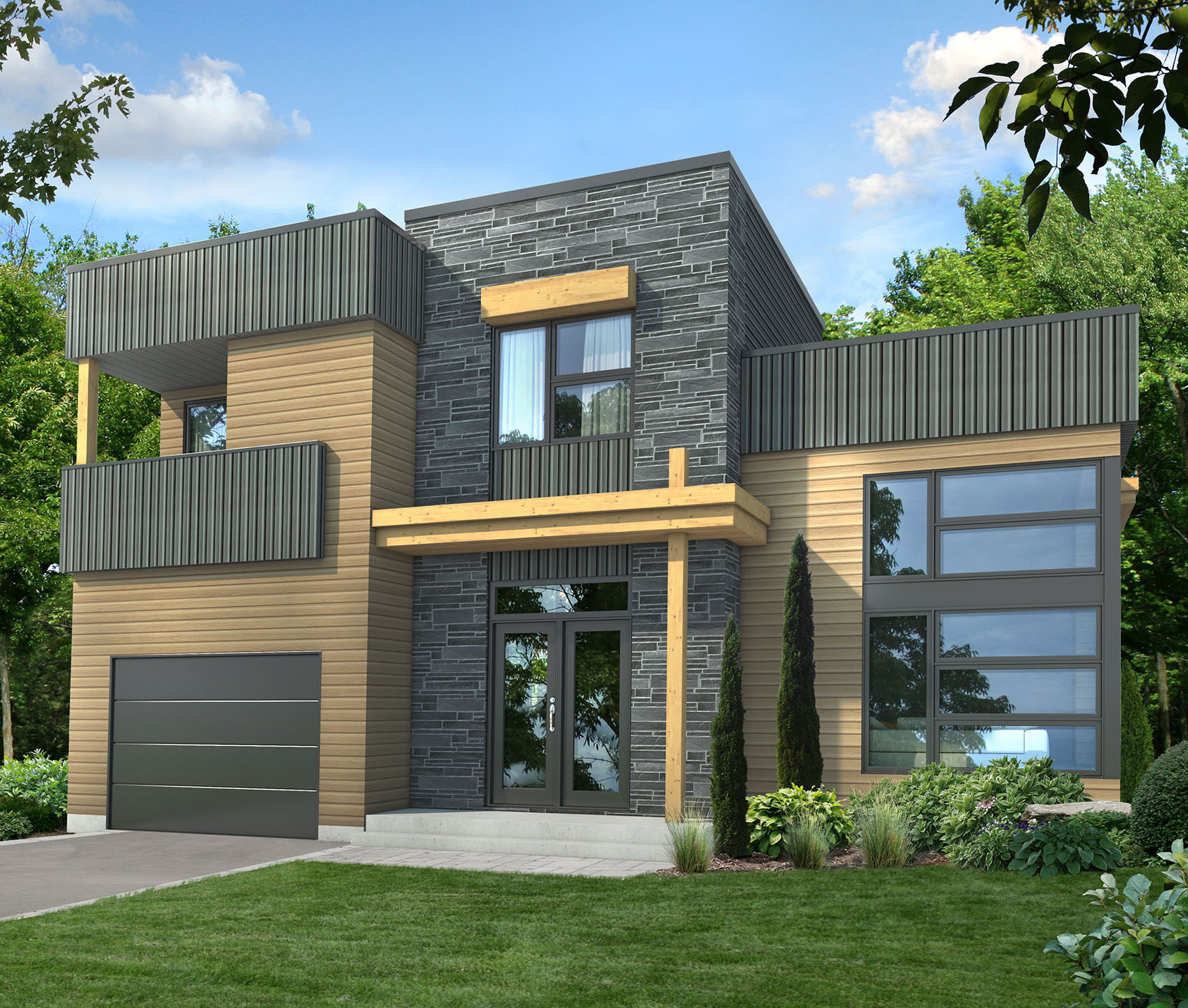 Dynamic Contemporary House Plan  80782pm  Architectural