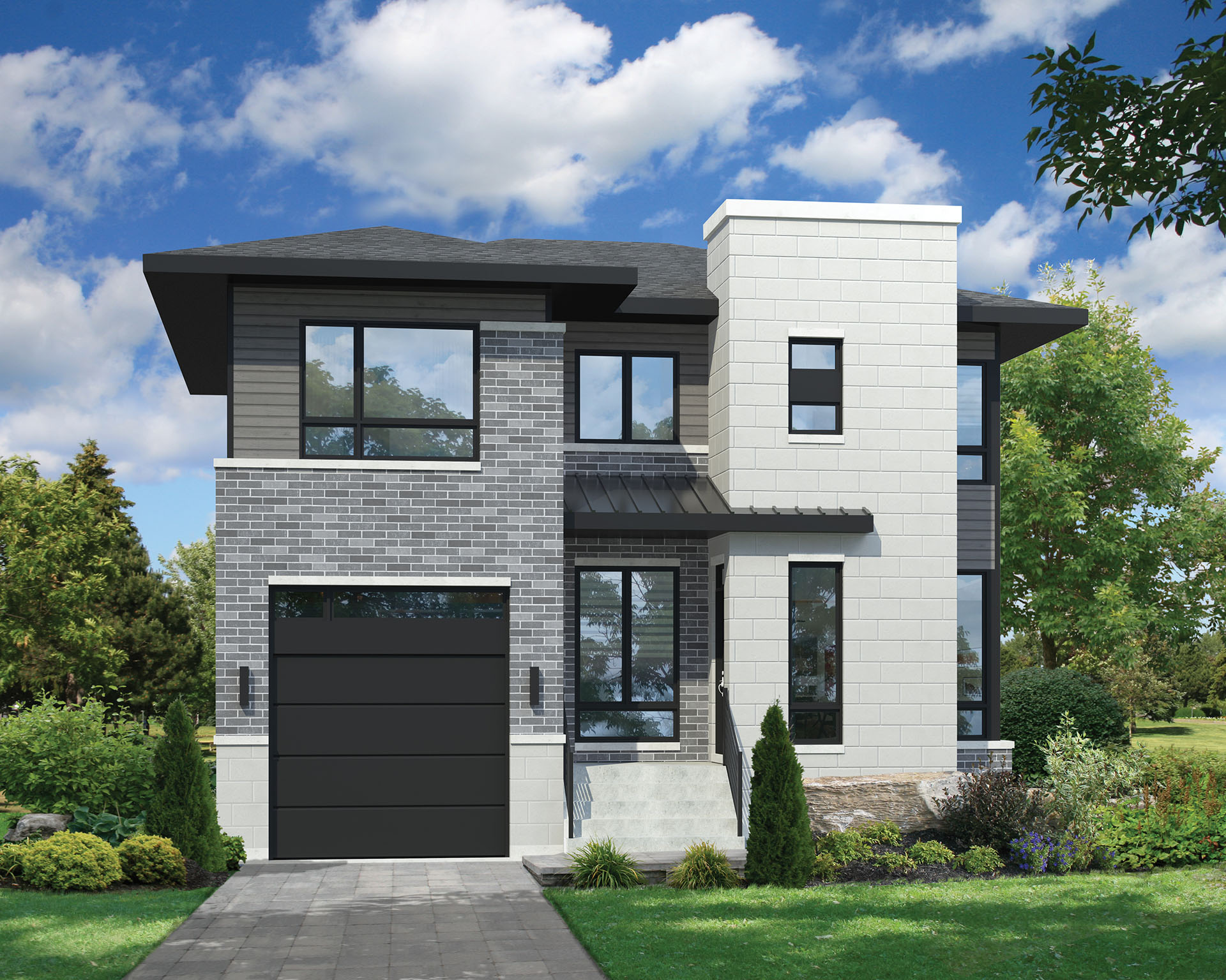 TwoStory Contemporary House Plan  80806PM  2nd Floor