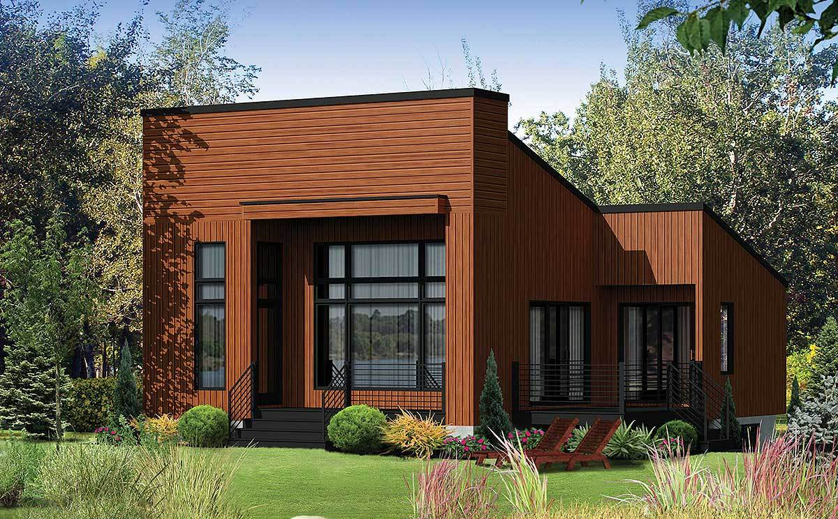 Contemporary Getaway 80812pm Architectural Designs