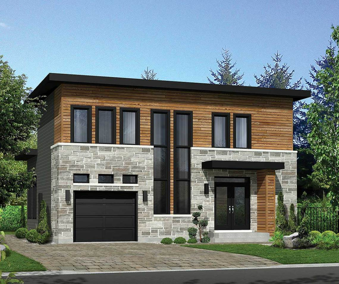 Modern House Plan with Lots of Storage - 80859PM ...
