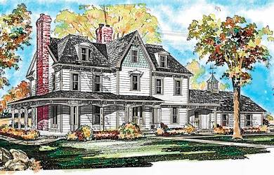 plan victorian gothic plans farmhouse architecturaldesigns designs homes architectural century story layout grand detailed three sold