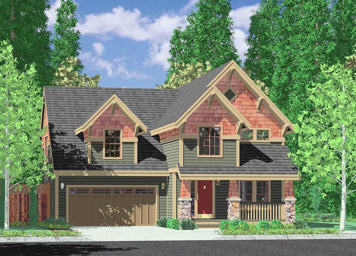 Craftsman Home With Open Floor Plan 8130lb