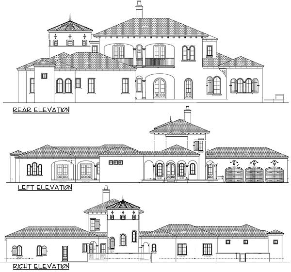House plans spanish revival